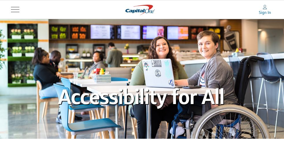 web page with accessibility policy - ADA website compliance best practices