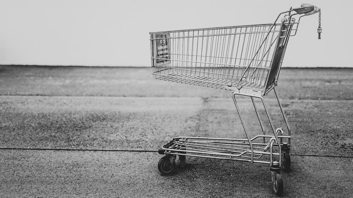 empty shopping cart - metaphor for Shopify WCAG compliance consultants