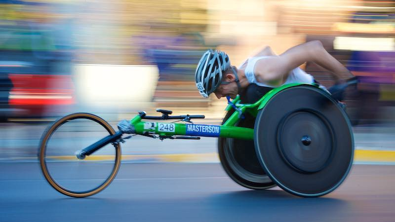 adaptive cycling athlete